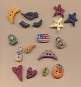 Hand Made Clay Buttons